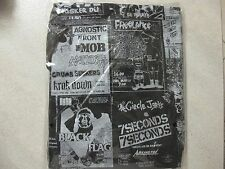 PUNK FLYERS BAD BRAINS N.Y.H.C. BLACK T-SHIRT SICK OF IT ALL KBD CRO-MAGS JUDGE