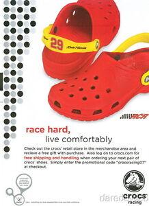 2007 Kevin Harvick Crocs NASCAR Nextel Cup postcard