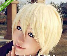 New kuroshitsuji Alois Trancy Short Yellow Cosplay Party Hair Full Wig