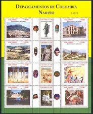 Colombia 2004 Regions/Volcano/Church/Art/Bridge/Nature/Buildings 12v sht n34914