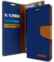 PER SAMSUNG GALAXY S7 EDGE cover A LIBRO 3 TASCHE PORTA CARD IN ECO PELLE BLUE