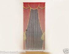 Stage Door Bambú Puerta Cortinas W granos * CON CUENTAS CORDONES * hecho A Mano Pantalla En/Al Aire Libre