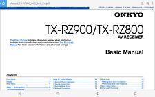 Onkyo TX-RZ900 OWNERS MANUAL PDF