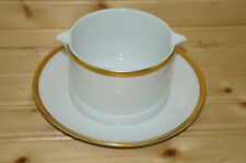 "Thomas ""Gold Band"" 701 Gravy Boat with attached Underplate, 7 1/4"""