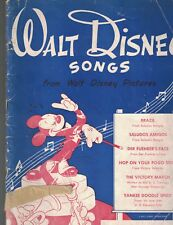 Walt Disney Songs 1943 Songbook Der Fuehrer's Face Brazil Victory March