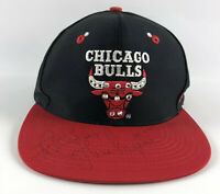 Chicago Bulls Snapback Baseball Hat AJD Black NWT Vintage 1990s John Paxson Auto