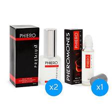 2 Phiero Premium + 1 Phiero Night Man: Pheromone perfumes for men
