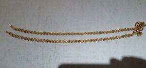 Gold Anklet 22K Handmade ankle bracelet chain pair fine jewelry 495-017
