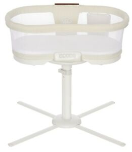 HALO Luxe Plus Next Gen Swivel Sleeper Bassinet  Infant Baby Crib Ivory Linen