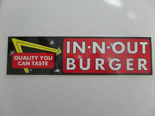 "IN-N-OUT BURGER, BUMPER STICKER, ""QUALITY YOU CAN TASTE"" VINTAGE/DISCONTINUED"