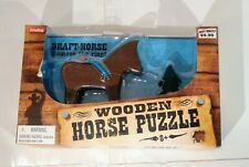 Mind bender puzzle Draft Horse skill amusement game 8+ Schylling wooden new