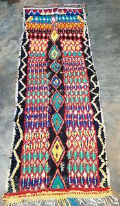 Vintage Moroccan berber rug 255 x  94 cm
