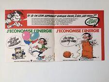 GASTON LAGAFFE AUTOCOLLANT DOUBLE J'ECONOMISE L'ENERGIE / FRANQUIN