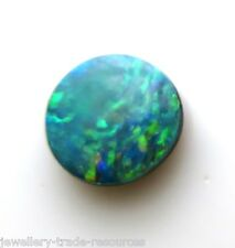 Opal Doublet 7mm Round CABOCHON Cut Gem GEMSTONE