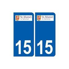 15 Saint-Mamet-la-Salvetat logo ville autocollant plaque sticker arrondis