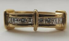 AUTHENTIC 18 CARAT GOLD  PRINCESS CUT NATURAL DIAMOND 8 STONE HALF ETERNITY RING