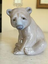"LLADRO ""BEAR SEATED"" #1206 MINT! OLDER MARK! 1970'S RETIRED!!"