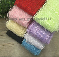 Wholesale!!! Bilateral Handicrafts Embroidered Flowers Net Lace Trim Ribbon FL96