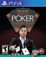 PURE HOLD'EM WORLD POKER CHAMPIONSHIP PS4 NEW! TEXAS TABLE GAME, CASINO, CHIPS