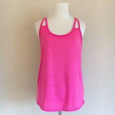 940d4b7fb9 Athleta Full Force Tank Top Athletic Wear Hot Pink Shelf Bra Womens Size  Small