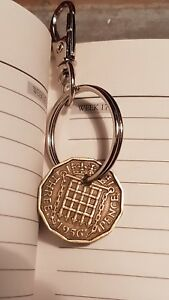 Three pence key ring Thruppence 1940 to 1967