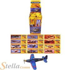 12 x WWII Flying Planes Gliders Party Bag Fillers Toys Aeroplane Spitfire