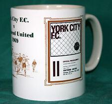 YORK v SOUTHEND 1969.RETRO DESIGN FOOTBALL PROGRAMME MUG.GREAT GIFT.NEW.BNIB