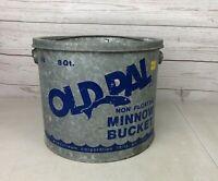 Vintage Galvanized Old Pal 8 Qt. Minnow Bucket No.88 Wodstream  Lititz Pa. USA