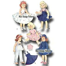 "Vintage Doll Clothes Dress Pattern ~ 15"" Sweet Sue, Miss Revlon, 14"" Toni"