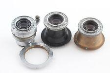 3x INDUSTAR 22 3.5/50 Russian M39 Lens Zorki