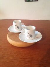 Thomas Germany Pair of Espresso Cups & Saucers Quince Pattern VGC