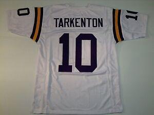 UNSIGNED CUSTOM Sewn Stitched Fran Tarkenton White Jersey - M, L, XL, 2XL, 3XL