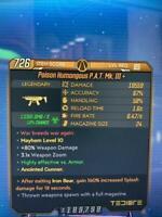 Lvl 65 M10 Top G Roll P.A.T. MK III 300/90-150/50 N More BUY2, GET1 BL3 Xbox One