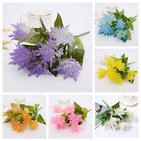 2PC Artificial Fake Flowers Snowflake Chrysanthemum Bouquet Wedding Home Decor