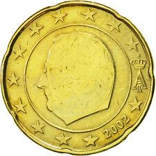 [#466339] Belgique, 20 Euro Cent, 2002, TTB, Laiton, KM:228