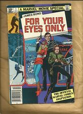 James Bond for your eyes only #1 1981 Marvel Comics Barcode newsstand variant