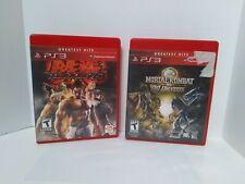PS3 Tekken 6 & Mortal Kombat vs DC Greatest Hits Complete   SHIPS FREE & FAST