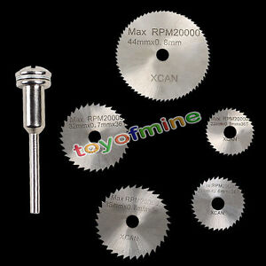6/1Pcs Mini HSS Circular Saw Disc Blade Cutter For Metal Cut Tool Set (L80)