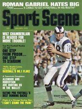 1972 Sport Scene Football magazine Roman Gabriel Los Angeles Rams Stan Mikita VG