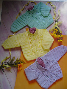 "#9 Premature Baby Girl Boy DK 12-22"" 30-56cm Cardi's & Sweater Knitting Pattern"
