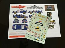 DECALS 1/24 SUBARU IMPREZA J JOSEPH RALLYE CHARBONNIERES 1998 RALLY WRC HASEGAWA