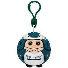 """Ty NFL Beanie Ballz Philadelphia Eagles 2.5"""" inch Keychain Key Chain Ball  New"""