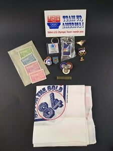 Olympic Games Committee Collection Lot Of Pins Stamps Sticker & Scarf