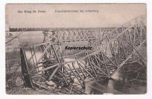 alte Ak 1915 Der Krieg im Osten, Eisenbahnbrücken bei Insterburg