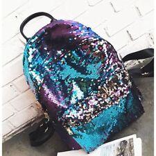 Sequin Glitter Backpack Girls School Bag Women Travel Shiny Rucksack Bling Small