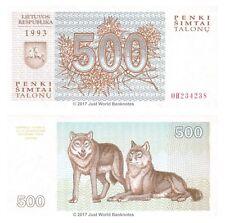 Lithuania 500 Talonu 1993  P-46  Banknotes  UNC