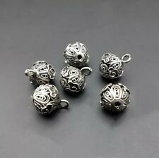 Tribe hand-carve miao silver DIY ornament beads hollow button clasp 10piece