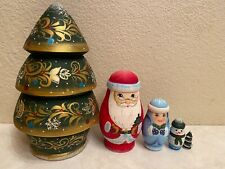 Russian Nesting Dolls Christmas Tree! Matte Finish! High Quality 5 pieces!