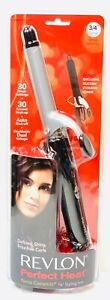 "Revlon 3/4"" Barrel Size Ceramic Curling Iron 110/220 Volt For Worldwide Use NEW"