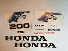 Honda Outboard  Decal 4-Stroke  200 hp  Fourstroke MARINE VINYL set   usa